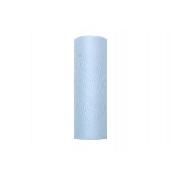 Tiul błękitny, rolka 15cm x 9m