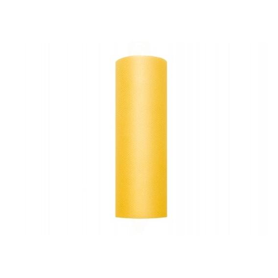 Tiul Tiul żółty, rolka 15cm x 9m