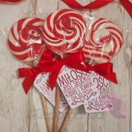 Lizaki Lizak okrągły czerwony - personalizacja - kolekcja LOVE
