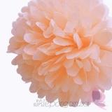 Papierowy kwiat, brzoskwiniowy, 35cm