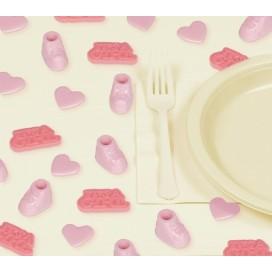Dekoracje stołu Konfetti plastikowe 3d Baby Girl