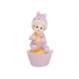 Figurka Dziewczynka na ciastku