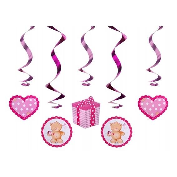 Dekoracje wiszące Dekoracja świderki różowe misie
