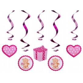 Dekoracja świderki różowe misie