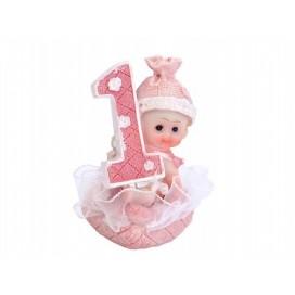 Figurki i świeczki Figurka Dziewczynka 1 urodziny
