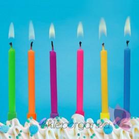 Świeczki kolorowe, 6 sztuk