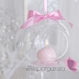 Szkło, świeczniki, świece Świeczniki kula szklana, średnica 10cm, 4szt.