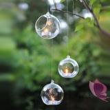 Świeczniki kula szklana, średnica 10cm, 4szt.