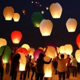 Latające lampiony życzeń - mix kolorów 10szt