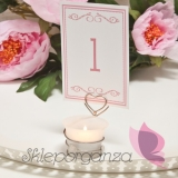 LOVE Świecznik serce LOVE - personalizacja