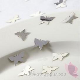Konfetti motylek srebrny