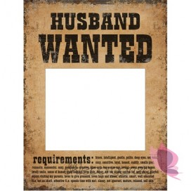 Tabliczki Husband Wanted i Wife Wanted, 2 szt