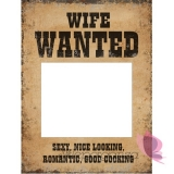 Karteczki, tabliczki Tabliczki Husband Wanted i Wife Wanted, 2 szt