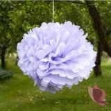 Papierowe kule kwiatowe pompony Papierowy kwiat, liliowy, 50cm