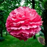 Papierowy kwiat, bordowy, 50cm