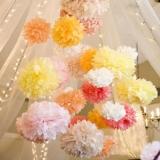 Papierowe kule kwiatowe pompony Papierowy kwiat, brzoskwiniowy, 50cm