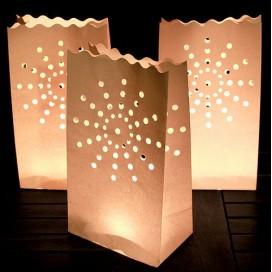 Lampiony torebki Lampiony torebki gwiazdka - 10 szt