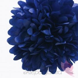 Papierowy kwiat, ciemnoniebieski, 35cm