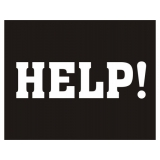 Naklejki na buty - HELP! , 2szt