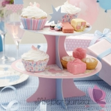 Kolekcja Wózeczek na Baby Shower Patera na ciasto WÓZECZEK