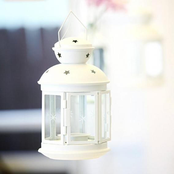 Szkło, świeczniki, świece Latarenka biała