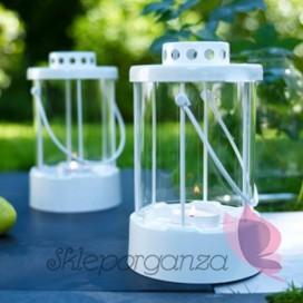 Szkło, świeczniki, świece Latarenka biała duża