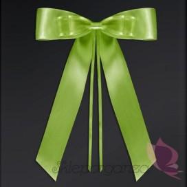 Kokardy zielone z muszką