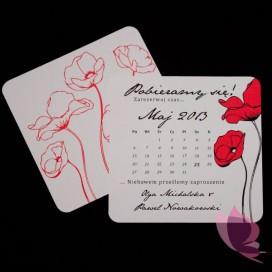 Zawiadomienia weselne Zawiadomienie ślubne - personalizacja kolekcja MAKI