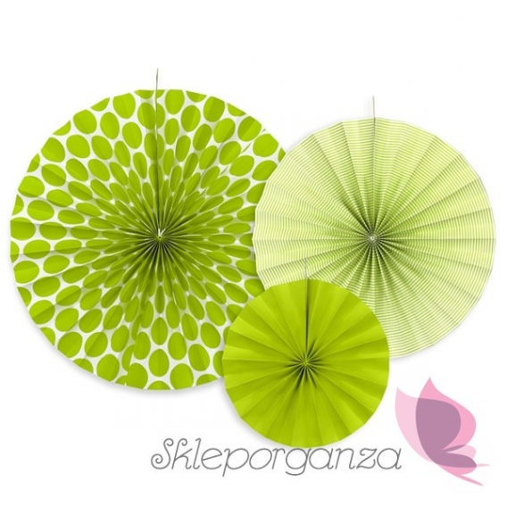 Rozety inne Rozety dekoracyjne zielone, 3szt.