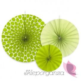 Rozety dekoracyjne zielone, 3szt.