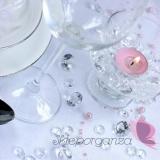 Kryształki Diamentowe konfetti bezbarwne 100 sztuk