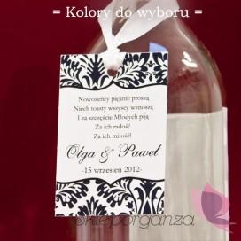 Zawieszka na alkohol - personalizacja1 kolekcja DAMASK