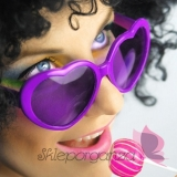 Opaski, okulary, itd. Okulary fioletowe SERDUSZKA
