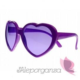 Okulary fioletowe SERDUSZKA