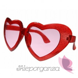 Opaski, okulary, itd. Okulary czerwone MEGA SERCA
