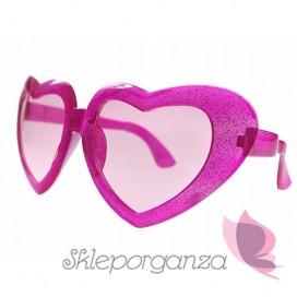 Opaski, okulary, itd. Okulary różowe MEGA SERCA
