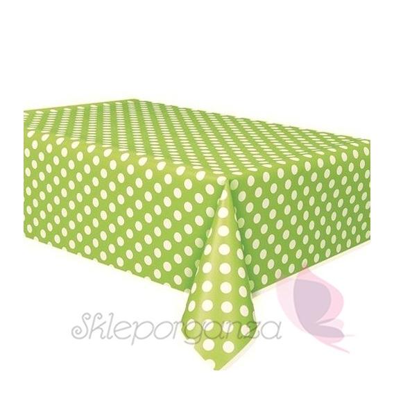 Obrusy Obrus foliowy zielony KROPKI