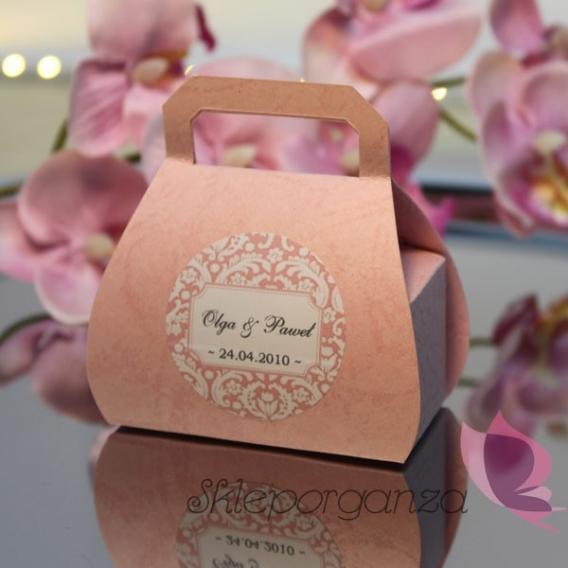 Pudełka Pudełko torebka różowa - personalizacja