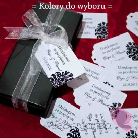 Bileciki do upominków Bilecik - personalizacja kolekcja DAMASK