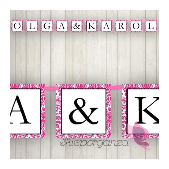 Banery Litera/znak do baneru - personalizacja kolekcja DAMASK