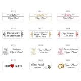 Miodziki weselne personalizowane Podziękowanie dla gości - miód - personalizacja KRATKA