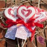 Lizak duży serce czerwone - personalizacja - kolekcja LOVE