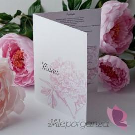 Menu Menu weselne kolekcja PIWONIA