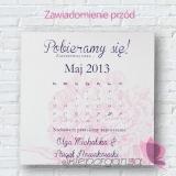 Zawiadomienie ślubne - personalizacja kolekcja PIWONIA