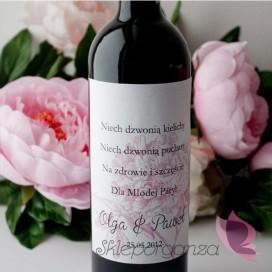 Etykieta na alkohol - personalizacja kolekcja PIWONIA