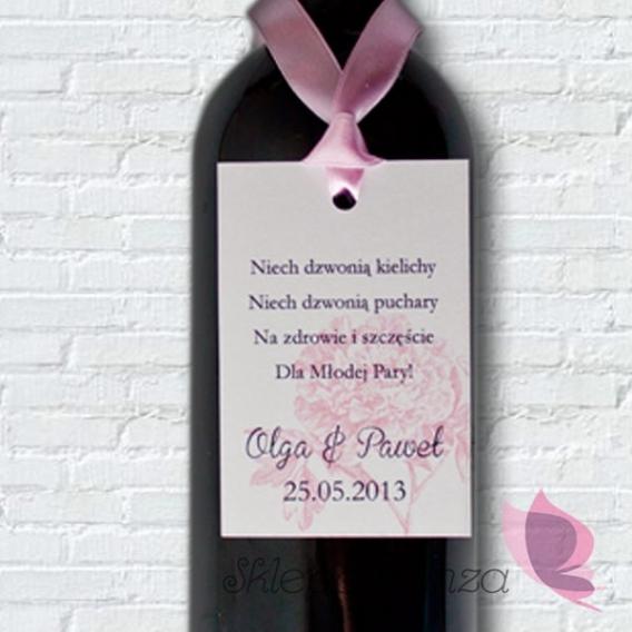 Zawieszki na alkohol Zawieszka na alkohol - personalizacja kolekcja PIWONIA