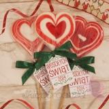 Lizak serce czerwone- personalizacja - ŚWIʘTA