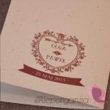 Menu weselne Menu weselne kolekcja VINTAGE