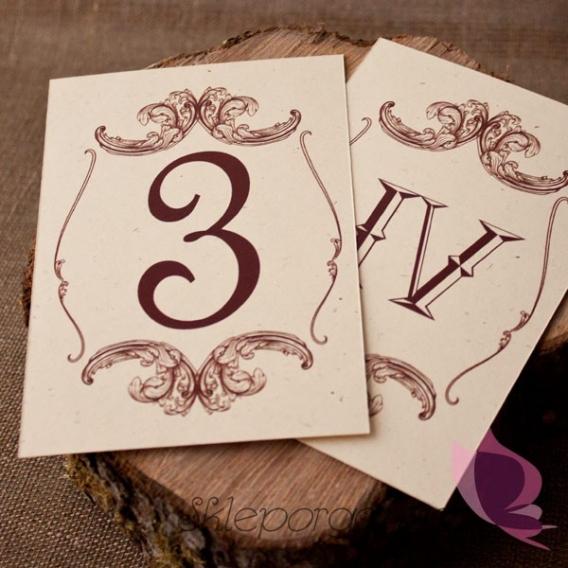 Numery stolików - personalizacja kolekcja VINTAGE