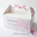 Piwonia Pudełko na ciasto - personalizacja kolekcja PIWONIA